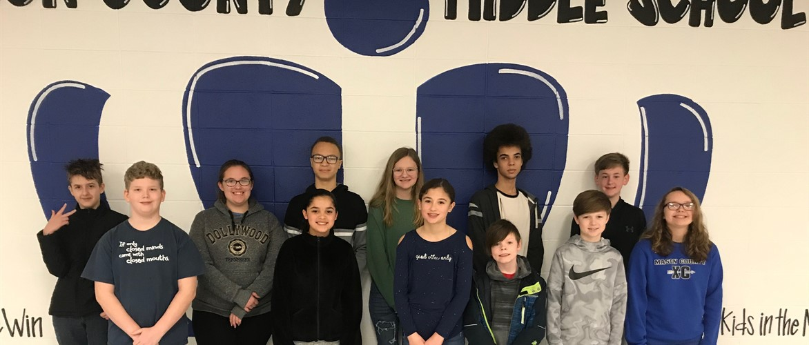 photo of the students who were named students of the month